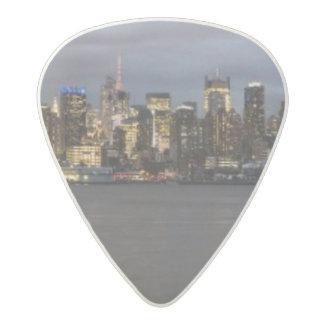Early evening panoramic view of Manhattan Acetal Guitar Pick
