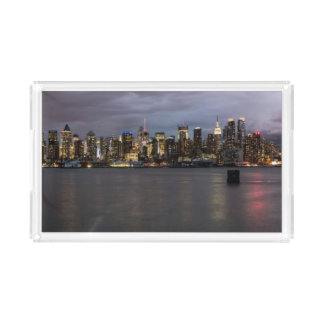 Early evening panoramic view of Manhattan Acrylic Tray