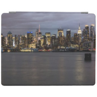 Early evening panoramic view of Manhattan iPad Cover