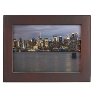 Early evening panoramic view of Manhattan Keepsake Box