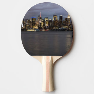 Early evening panoramic view of Manhattan Ping Pong Paddle