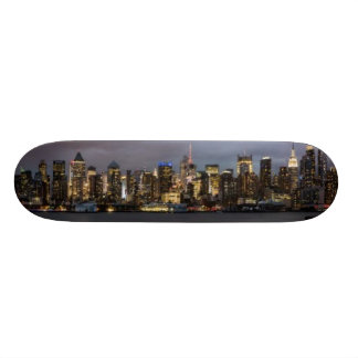 Early evening panoramic view of Manhattan Skateboard Deck