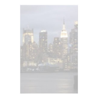 Early evening panoramic view of Manhattan Stationery