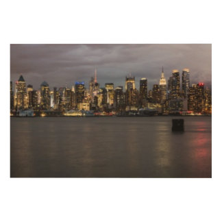 Early evening panoramic view of Manhattan Wood Print