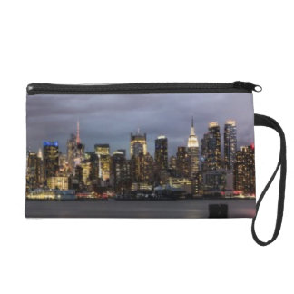 Early evening panoramic view of Manhattan Wristlet Purse