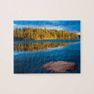 Early Evening reflections in the boundry waters Jigsaw Puzzle