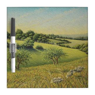 Early Evening Sun, Epsom Downs, Surrey Dry Erase Board