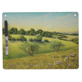 Early Evening Sun, Epsom Downs, Surrey Dry Erase Board With Key Ring Holder