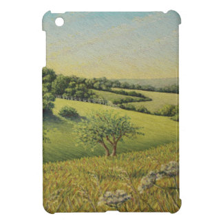 Early Evening Sun, Epsom Downs, Surrey Pastel iPad Mini Case