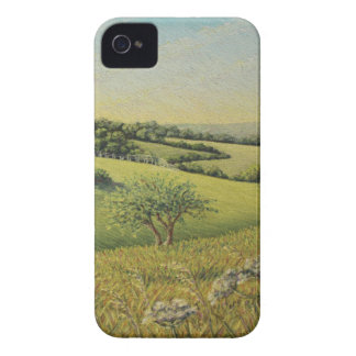Early Evening Sun, Epsom Downs, Surrey Pastel iPhone 4 Case-Mate Case