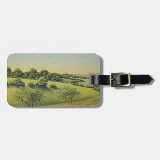 Early Evening Sun, Epsom Downs, Surrey Pastel Luggage Tag