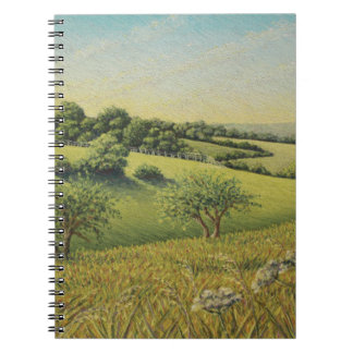 Early Evening Sun, Epsom Downs, Surrey Pastel Notebooks