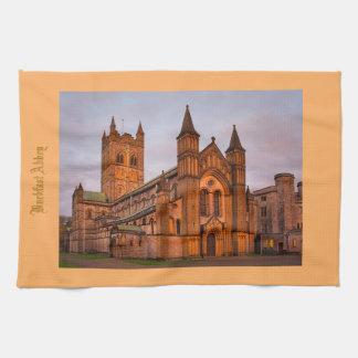 Early evening sun glow at Buckfast Abbey Hand Towel