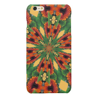 Early Fall Flowers Cheery Floral Motif Pattern Glossy iPhone 6 Plus Case