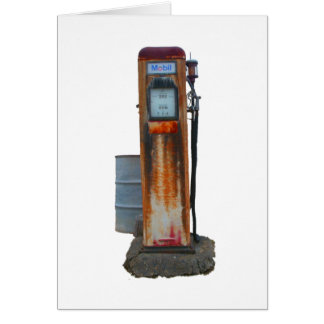 Early Gas Pump Note Card