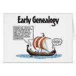 Early Genealogy Cartoon Birthday Card