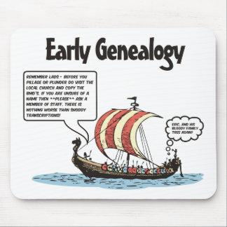 Early Genealogy Cartoon Mouse Mat