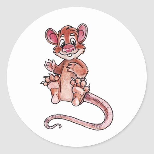 Early Mammal Round Stickers