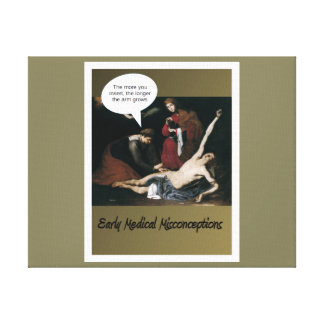 Early Medical Misconceptions - So Funny Gallery Wrapped Canvas
