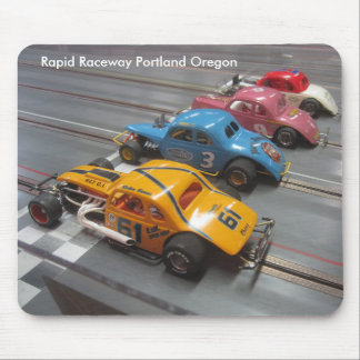 Early modified slot cars. mouse mat