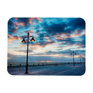 Early Morning along Atlantic Ocean and the Key Rectangular Photo Magnet