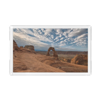 Early Morning at Delicate Arch Acrylic Tray