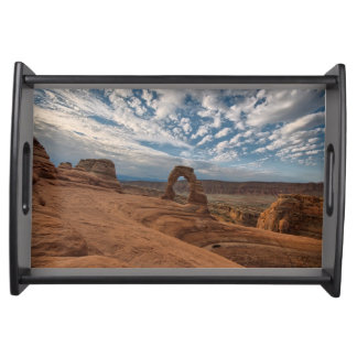 Early Morning at Delicate Arch Serving Tray