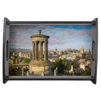 Early morning at Dugald Stewart Monument Serving Tray