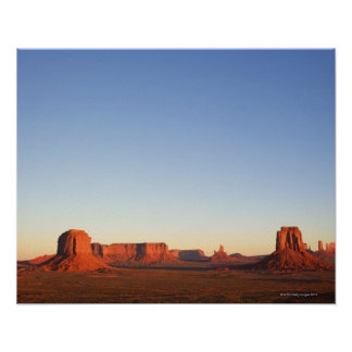 Early morning at Monument Valley Navajo Tribal Poster