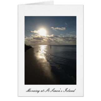 Early Morning at St. Simon's Island Greeting Card