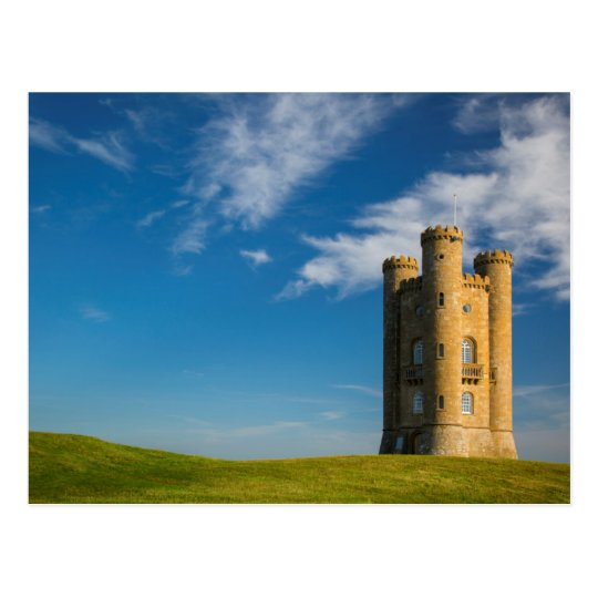 Early morning at the Broadway Tower Postcard