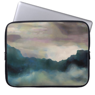 Early Morning Clouds Consume the Mountains Laptop Sleeve