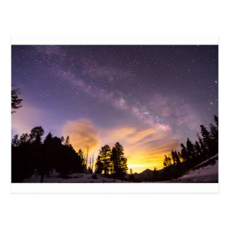Early Morning Colourful Colorado Milky Way View Postcard