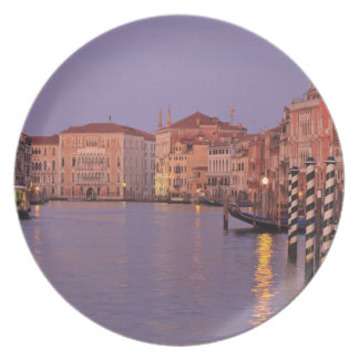 early morning Grand Canal Tour, Venice, Italy Plate