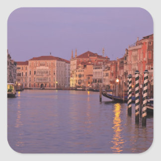 early morning Grand Canal Tour Venice Italy Square Stickers