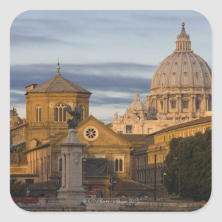 early morning light on the dome of St Peter's Square Sticker
