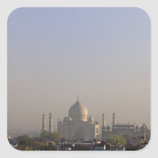 Early morning light on the dome of the Taj Mahal Square Sticker