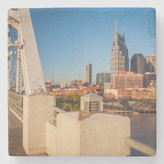 Early Morning On The Shelby Street Bridge Stone Coaster
