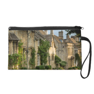 Early morning over connected cottages wristlet