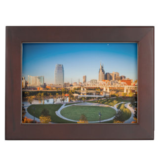 Early Morning Over Nashville, Tennessee, USA 2 Keepsake Box
