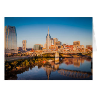 Early Morning Over Nashville, Tennessee, USA Card