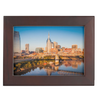 Early Morning Over Nashville, Tennessee, USA Keepsake Box