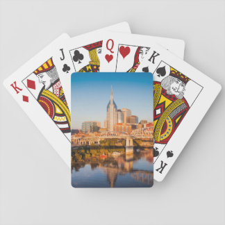 Early Morning Over Nashville, Tennessee, USA Playing Cards