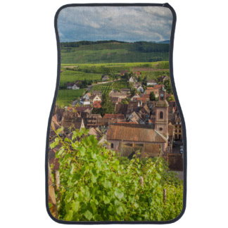 Early morning overlooking village of Riquewihr Car Mat