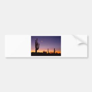 Early Morning Southwest Desert Moon Glow Bumper Stickers