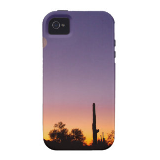 Early Morning Southwest Desert Moon Glow iPhone 4/4S Cover