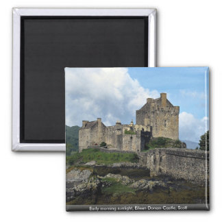 Early morning sunlight, Eileen Donan Castle, Scotl Magnets