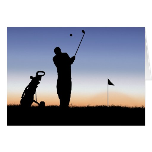 Early Morning Tee Time Greeting Cards