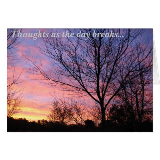 Early Morning Thoughts Card