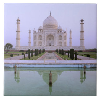 early morning view of the Taj Mahal reflected in Tile